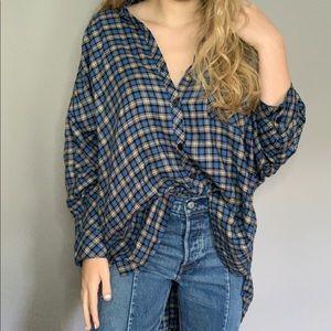 BRAND NEW WOT BDG Oversized Plaid ButtonDown Shirt